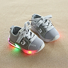 612a903a88db Stylish Spring And Autumn Children Luminescent Sneakers LED Lighting Shoes  -Grey