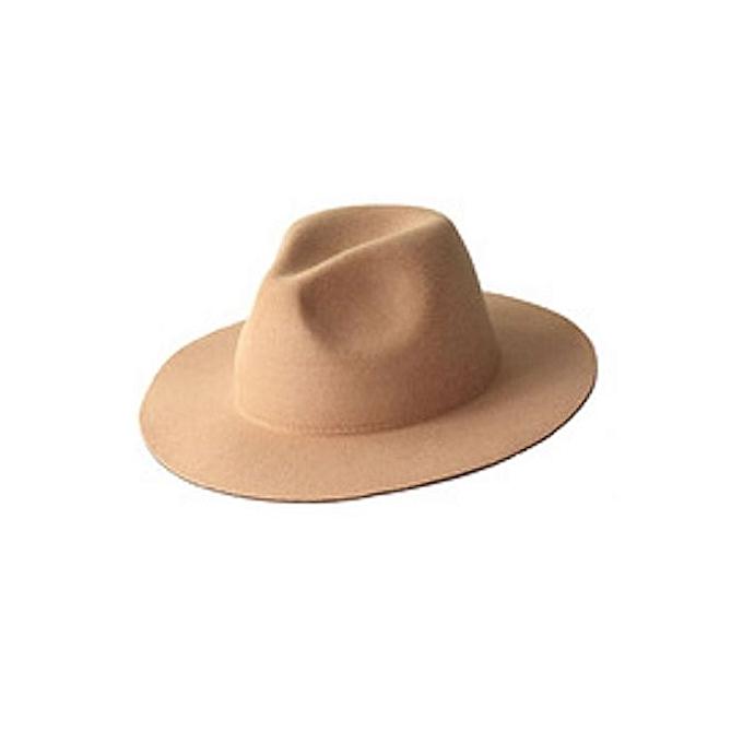 4f4ec0565e0 Fashion PLAIN AND TRENDY FEDORA HAT - BROWN MEN-