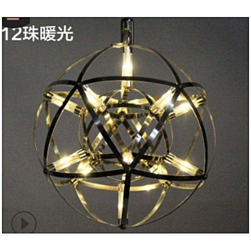 Modern 12LED Suspension Light Spherical Pendant Lamp Ceiling Lightin Chandelier#White