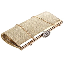 NEW WOMENS SPARKLY GLITTER CLUTCH BAG SILVER GOLD BRIDAL PROM PARTY PURSE  Gold 7770075c7ba28