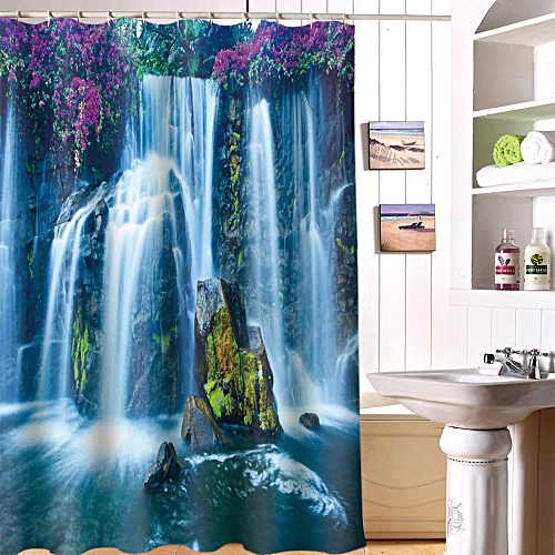Dtrestocy Printing Waterproof Personality Fabric Bathroom Shower Curtain L
