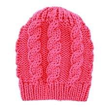 Knitted Kid Winter Warm Cap Fuchsia