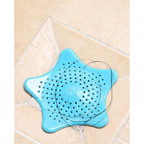Kitchen Silicone Five-pointed Star Sink Bathroom Sucker (blue)