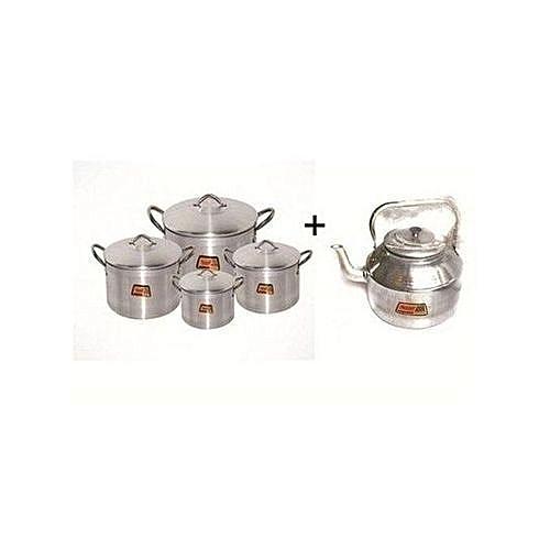 Cooking Pot Set4 20,22,24,26. +3L Kettle Home Kitchen Combo Bundle
