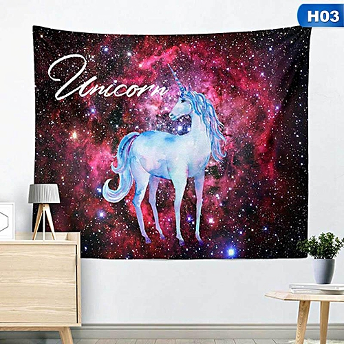 1pc Rotic Magical Animal Unicorn Dream 3D Printed Tapestry Wall Hanging Summer Beach Towel Shawls Yoga Mat Art Bedspread Tapestries