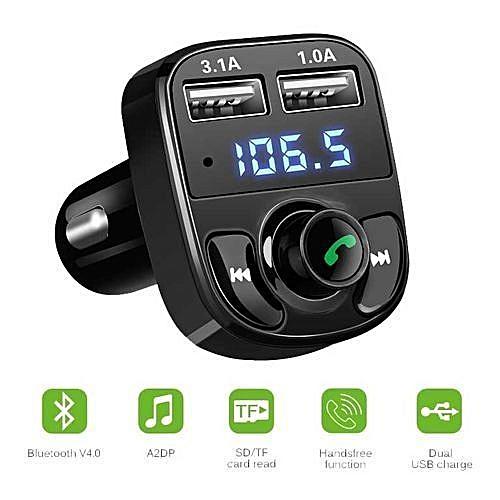 Car Bluetooth Handsfree FM Transmitter Car MP3