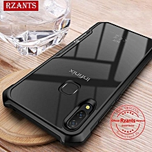 Rzants For Infinix Hot 6X X623 Hard Case【Four Corner】Transparent Silica Gel Matte