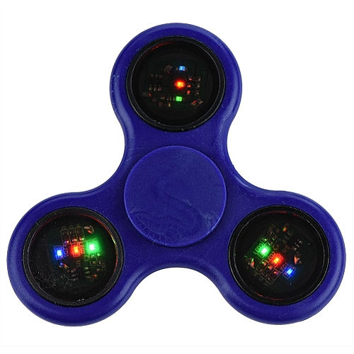 LED Light Hand Fingertip Spinner Custom Bearing High Speed Focus Toy Anxiety Stress Relief Blue