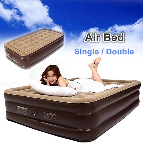 Bestway Air Bed Inflatable Couch Mattress Sleeping Mats Home Single Double Queen # Single