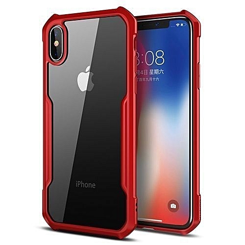 Apple Iphone X Max 6.5 Defender Back Case Red