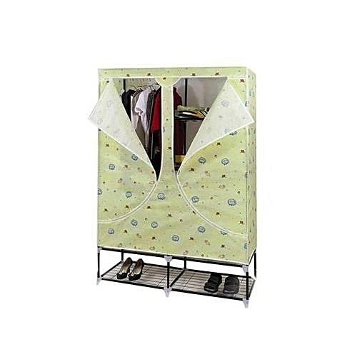 Large Mobile Wardrobe Closet With Shoe Rack Base