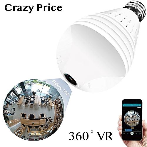 Wi-Fi VR Cheap CCTV Security Camera 960P 1.3MP Smart Home ICsee App Hidden Wireless Wifi Led Light Bulb 360 Degree Panoramic Camera