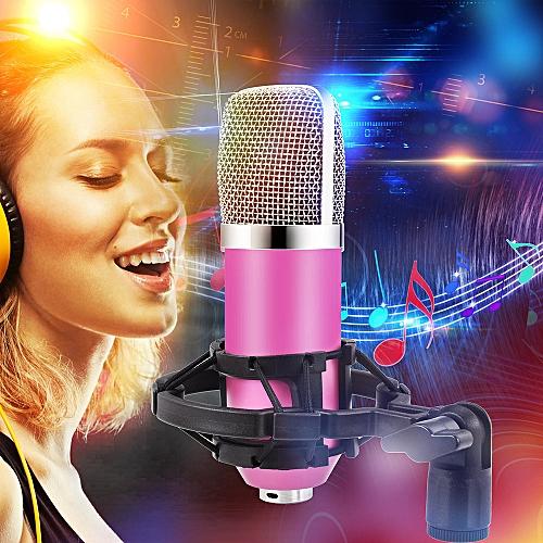 Fashion Condenser Pro Audio BM700 Microphone Sound Studio Dynamic Mic +Shock Mount-Pink