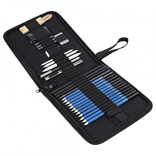 33pcs H&B Sketching Pencils Drawing And Sketch Kit Set With Erasers Charcoal Stick Sharpener
