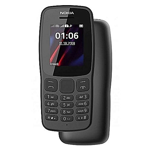 Nokia 106 - DUAL SIM, FM RADIO, TORCHLIGHT, 800MAH BATTERY, 1.8 INCH DISPLAY - DARK GREY