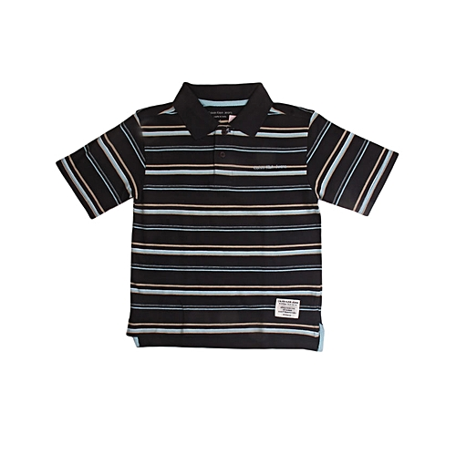 Calvin Klein Boy's Stripe Polo Shirt - Multicolour