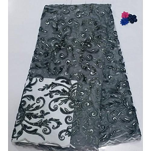 Velvet Sequin Lace Fabrics 5yards