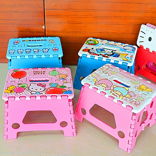 Cartoon Folding Stool Portable Thick Stool Stool Plastic Children Adult Home Outdoor Heavy Load