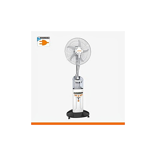 Rechargable Water Mist Fan With USB Port & Remote