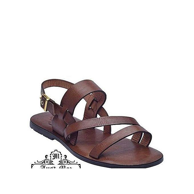 54b5af6ef145e1 Fashion Unique Brown Sandal For Men