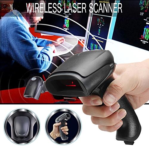 2.4G Wireless Laser USB Barcode Scanner Scan Gun Label Reader POS Gun + Receiver