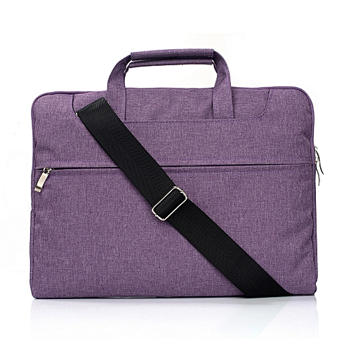 Portable One Shoulder Handheld Zipper Laptop Bag, For 11.6 Inch And Belowbook, Samsung, Lenovo, Sony, DELL Alienware, CHUWI, ASUS, HP (Purple)