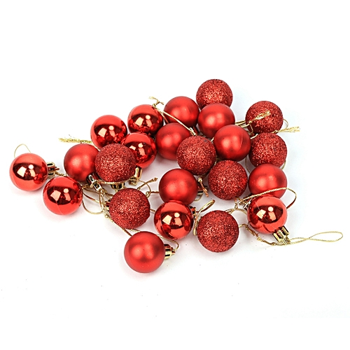 24 PCS 3cm Christmas Tree Ball Baubles Xmas Party Wedding Hanging Ornament Christmas Decoration Supplies For Home Decor