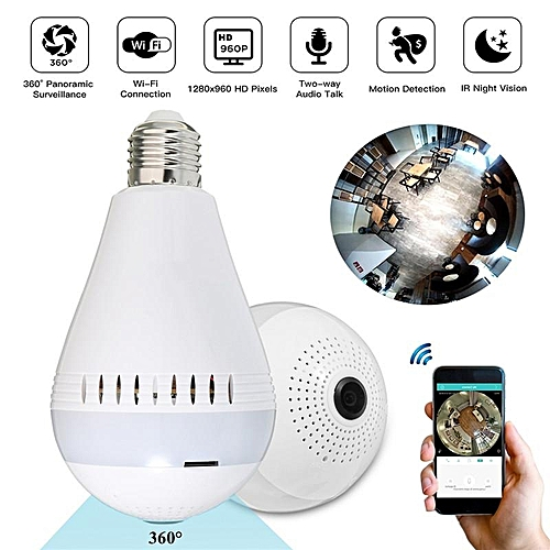 Mini Security IP Camera 360° Panoramic Hidden 960P Wifi Wireless Light Bulb Lamp