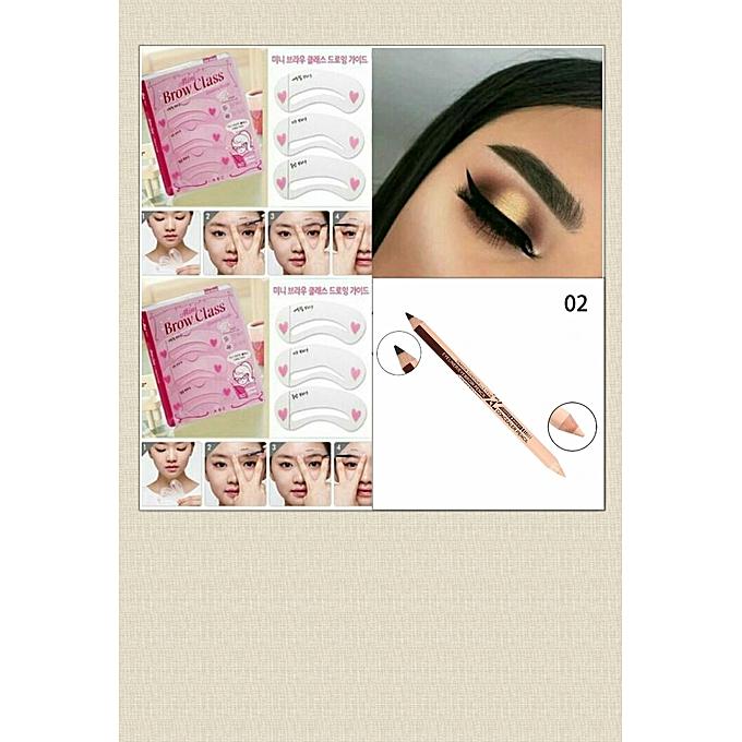 Fashion Eyebrow Stencil Concealer Pencil Jumia