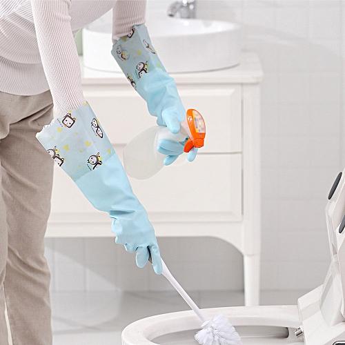 Bioaldla Store Waterproof Velvet Gloves Wash Dishes Dishwashing House Cleaning