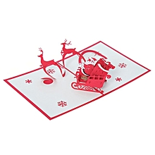 Christnas 3D Pop Up Dancing Elk Santa039s Merry Series Invitation Greeting Cards