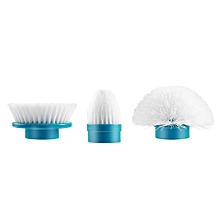 Turbo Scrub Electric Cleaning Brush Head Set 3 Heads For Multi-Purpose Uses