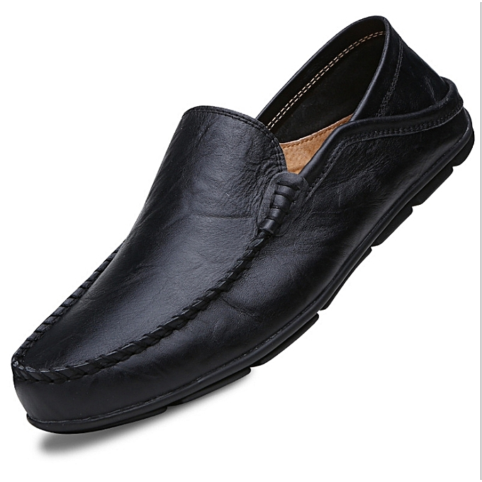 2cfec4357 Big Size 45 46 Summer Genuine Leather Shoes Men Casual Moccasins Mens  Slip-On Loafers