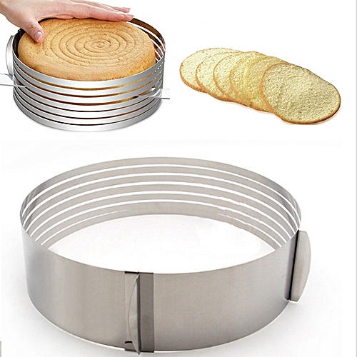 1pcs Stainless Steel Slicer Cutter Mold Adjustable Layered Round Ring Slice Baking Circular Mold Mousse Cake Layered