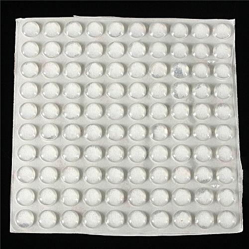 100PCS Self Adhesive Rubber Feet Clear Semicircle Bumpers Door Buffer Pad