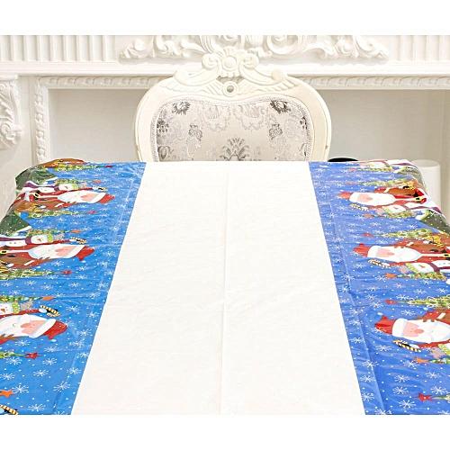 Xiuxingzi_Dtrestocy Disposable Merry Christmas Rectangular Printed PVC Cartoon Tablecloth 110*180cm