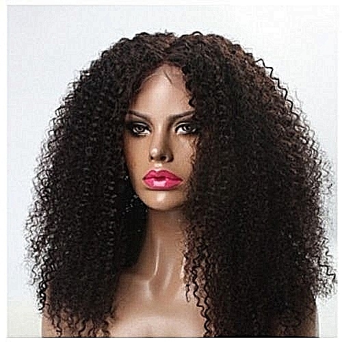 Fashion Cambodian Curly Human Hair Wig Natural - Color 2