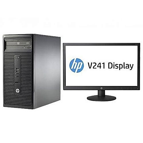 """HP 290 G1 DUAL CORE 4GB RAM 500HDD FREEDOS +18.5"""" MONITOR + MOUSE (3 SETS)"""