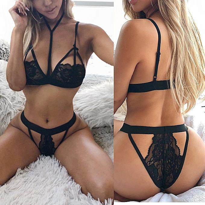 c81406c3cc523 Fashion Women Charm Sexy Sissy Lingerie Lace Babydoll G String Thong  Underwear Nightwear