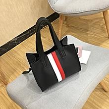 e016f3a4527c Woman Fahion Tote Casual Bags Crossbody Bag Stripe Leather Handbag Shoulder  Bag