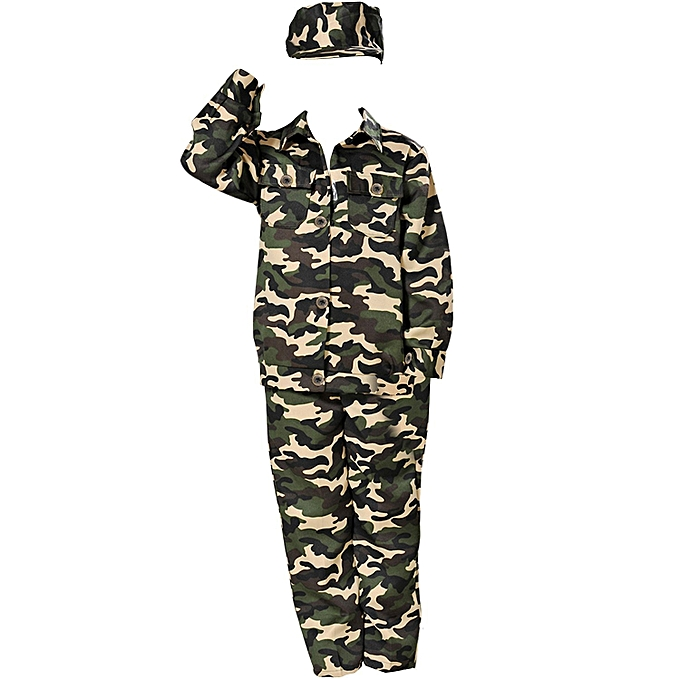 0f542b19d8f5 Child Camouflage Army Soldier Fancy Dress Costume Party Outfit Military  Uniform (4-12 Years