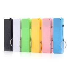 Mobile Power Case Box USB 18650 Battery Cover KeyChain For IPhone Samsung MP3-Green