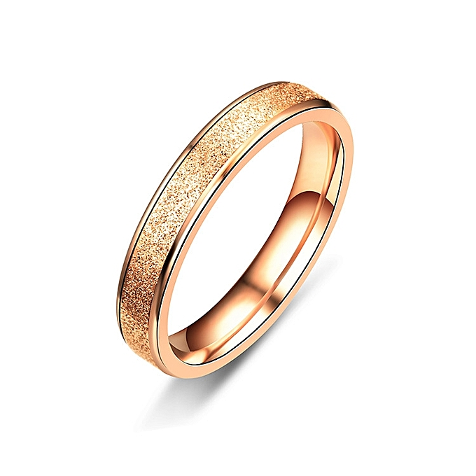 a17e74f90 4mm Rose Gold Rings For Women And Men Simple Ring Grind High Polishing Wedding  Band Ring