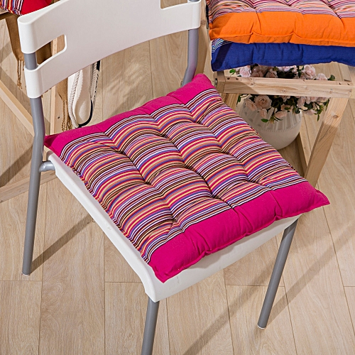 Dtrestocy Seat Cushion Comfort Coarse Cloth Cotton Stripe Chic Pads Room Soft Chair Office