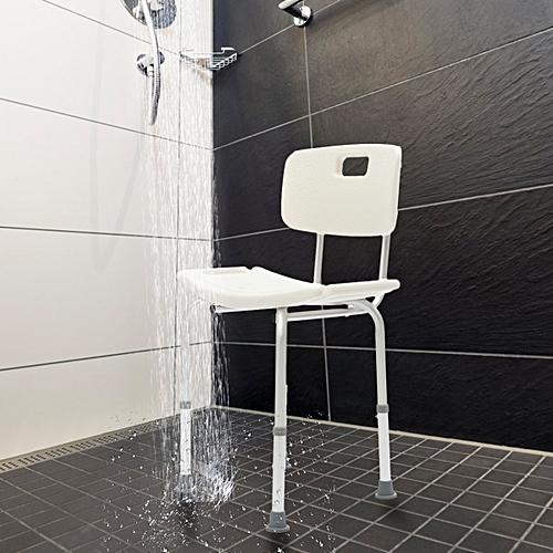 Adjustable Medical Shower Chair Bath Bench Stool Seat Detachable Arm Backrest