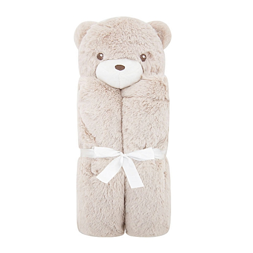 Baby Blanket Soft Stuffed Security Lovely Animal Soothing Crystal Plush With Satin For Unisex