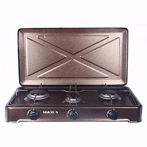 300 3-Burner Manual Ignition Table Top Gas Cooker (Maxi By LG)