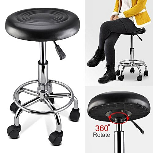 Adjustable Swivel Stool Office Chair Black