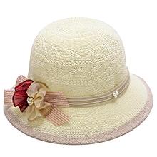 Golryworld Fashion Elegant Women Bowknot Flower Knitted Bowler Hat Outdoor  Casual Sun Cap-Light 4f2f8a872ed