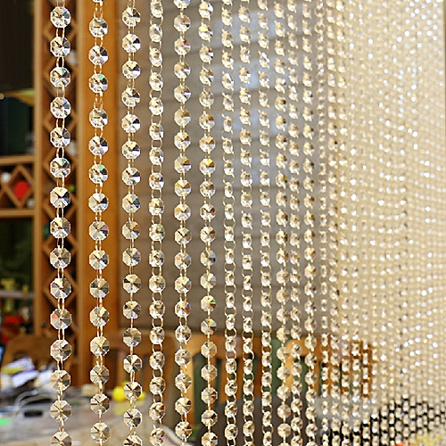 Watermalend Crystal Glass Bead Curtain Luxury Living Room Bedroom Window Door Wedding Decor